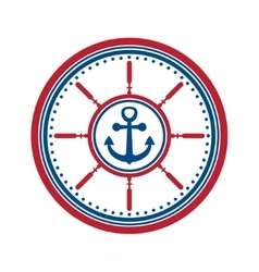 Anchor symbol isolated vector