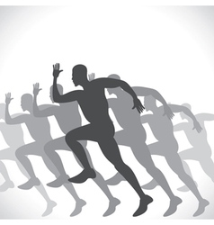 Black men runner vector