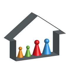 building abstract family home in 3d vector image vector image
