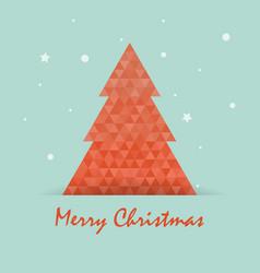 christmas postcard template with christmas tree vector image vector image