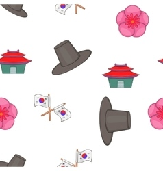 Country south korea pattern cartoon style vector