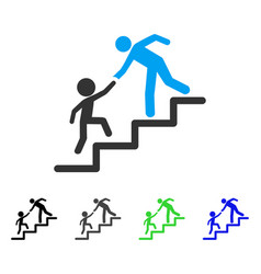 education steps flat icon vector image
