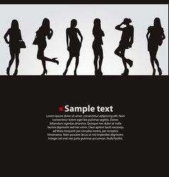 fashion girls dark backgrounds vector image