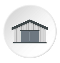 Garage icon circle vector