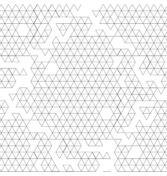 Graphic triangles pattern vector image vector image
