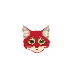 head-red-cat vector image vector image