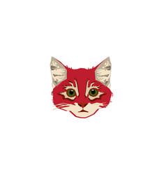 head-red-cat vector image