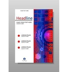 Hud cover design a4 vector