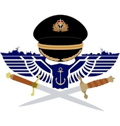 Icon royal navy vector