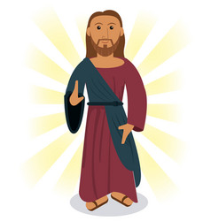 Jesus christ prayer image vector