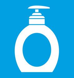 Liquid soap icon white vector