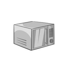 Microwave icon black monochrome style vector