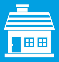 One-storey house icon white vector