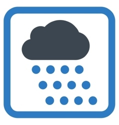 Rain Cloud Flat Icon vector image vector image