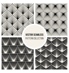 Seamless bw square lines geometric pattern vector