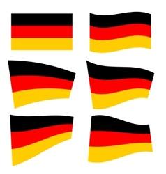 Set of german flags vector