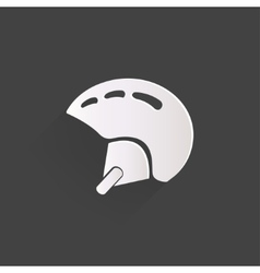 Skiing helmet icon vector image vector image