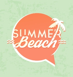 Summer Beach Calligraphic Design vector image