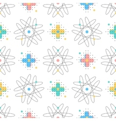 trendy seamless pattern creative geometric vector image vector image