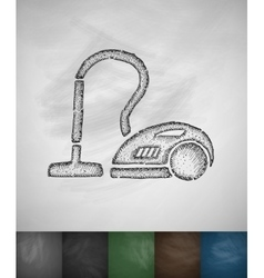 vacuum cleaner icon vector image