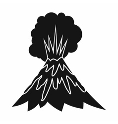 Volcano erupting icon simple style vector image vector image