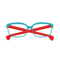 Glasses blue and red fashion glass vector
