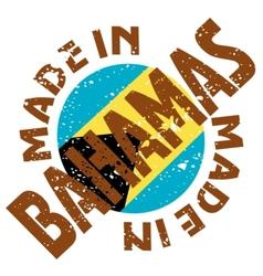 Made in Bahamas vector image