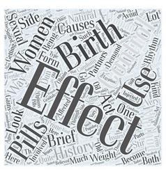 A brief history of birth control word cloud vector