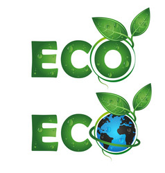 eco symbol design vector image