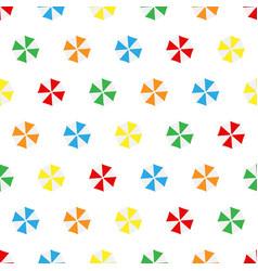 Seamless pattern summer beach different colors vector