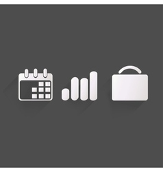 Business web icons vector