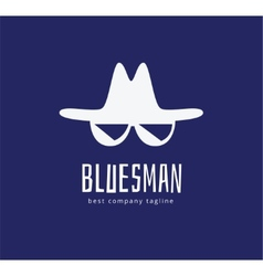 Abstract blues face logo icon concept logotype vector