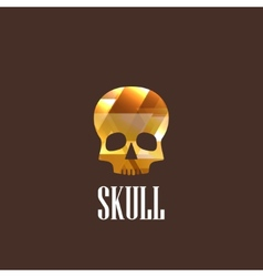 With skull icon vector