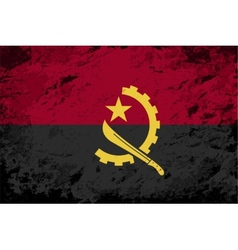 Angolan flag grunge background vector