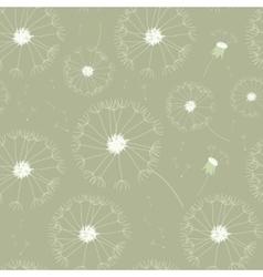 Seamless dandelions pattern vector image