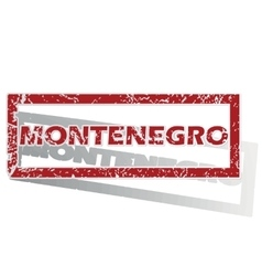 Montenegro outlined stamp vector