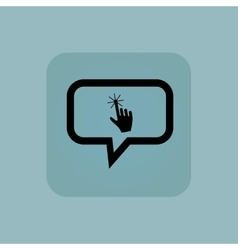 Pale blue hand cursor message vector