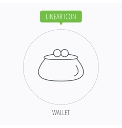 Vintage wallet icon cash money bag sign vector