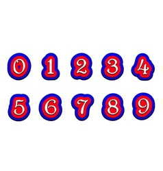 Tricolor numbers 123456789 on a white background vector