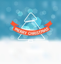 Christmas greeting card Snowfall on Winter vector image