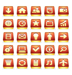 3d interface icons vector