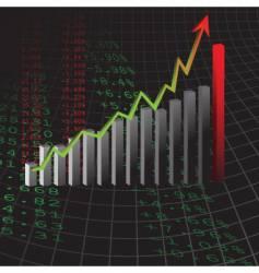 bar graph design vector image