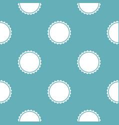 Beer cap pattern seamless blue vector