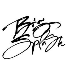 Big splash modern calligraphy hand lettering for vector
