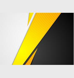 Black and orange corporate tech striped vector
