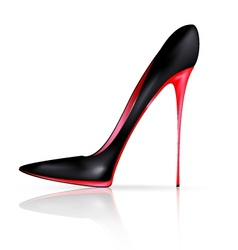 black red shoe vector image vector image