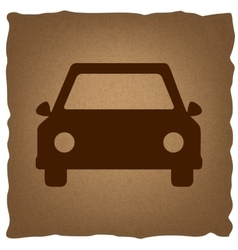 Car sign vintage effect vector