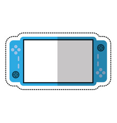 Cartoon video game console portable vector