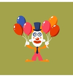 Clown holding balloons vector