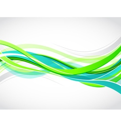 colorful waves background vector image